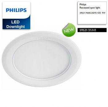 Đèn downlight âm trần LED Philips MARCASITE 59521 Φ100 9W